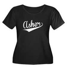 Asher, Retro, Plus Size T-Shirt