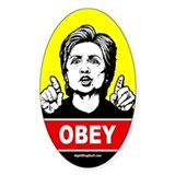 Obey Hillary Oval Decal