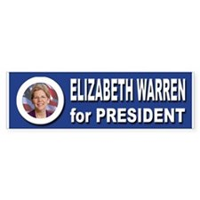 Elizabeth Warren for Presid Bumper Sticker