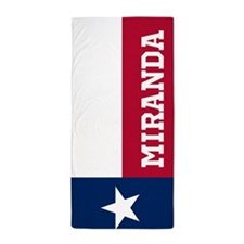 Monogram Flag of Texas Beach Towel