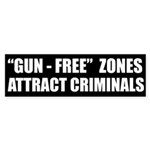 'Gun-Free' Zones Bumper Sticker
