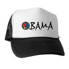 Obama Peace Trucker Hat