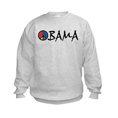 Obama Peace Kids Sweatshirt