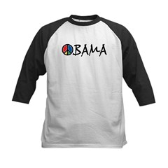 Obama Peace Kids Baseball Jersey