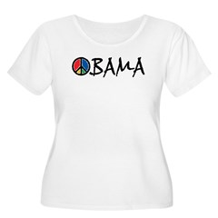Obama Peace Women's Plus Size Scoop Neck T-Shirt