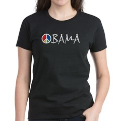 Obama Peace Women's Dark T-Shirt