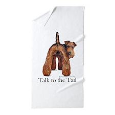 Airedale Terrier Talk Beach Towel