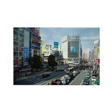 shibuya crossing Rectangle Magnet