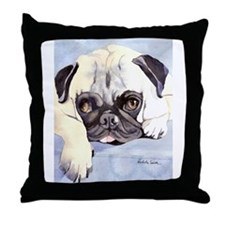 Pug Stuff! Throw Pillow