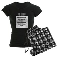 Photo Placeholder 10 x 8 and Logo Pajamas