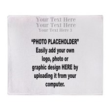 Your Photo Here with Text Throw Blanket