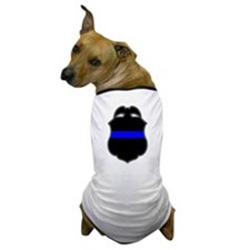 Blue Line Badge 3 Dog T-Shirt
