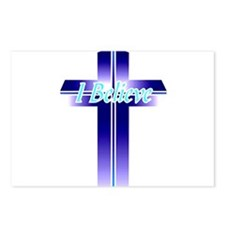 I Believe Cross Postcards (Package of 8)