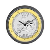Texas State Quarter Wall Clock