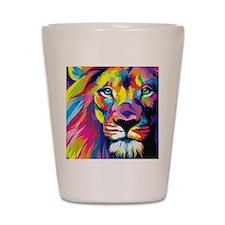 Leo the trippy lion Shot Glass