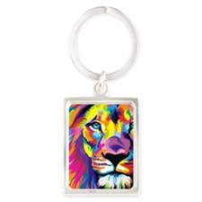 Leo the trippy lion Portrait Keychain