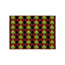 Marijuana Pattern Art 5'x7'Area Rug