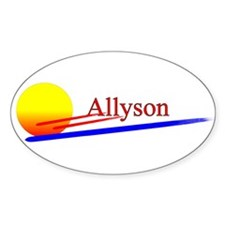Allyson Oval Decal
