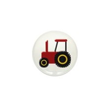 Red Tractor Mini Button (100 pack)