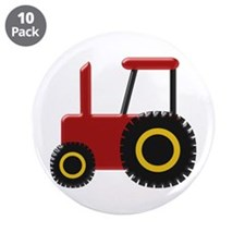 "Red Tractor 3.5"" Button (10 pack)"