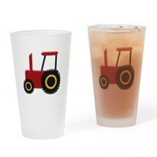 Red Tractor Drinking Glass
