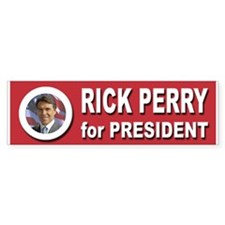 Rick Perry for President 20 Bumper Sticker