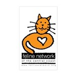 Feline Network Logo - Rectangle Sticker
