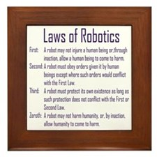 Asimov Laws of Robotics  Framed Tile