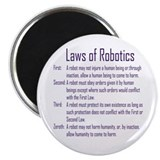Asimov Laws of Robotics Magnet