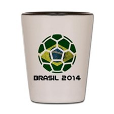 Brazil (Brasil) World Cup 2014 Shot Glass