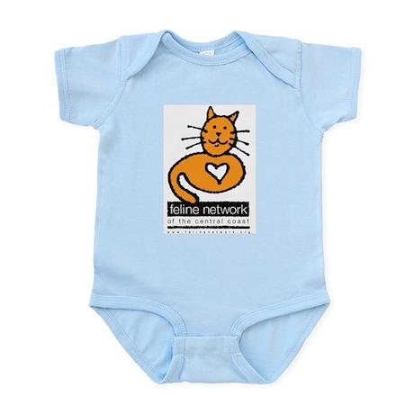 Feline Network Logo - Infant Creeper