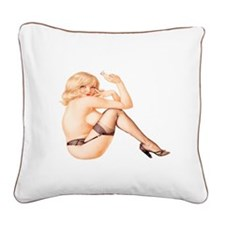 Sexy Pin Up Square Canvas Pillow