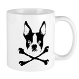 Boston Terrier Crossbones Small Mugs
