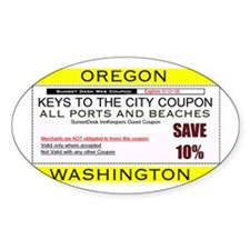 Oregon Washington Coupon Oval Decal