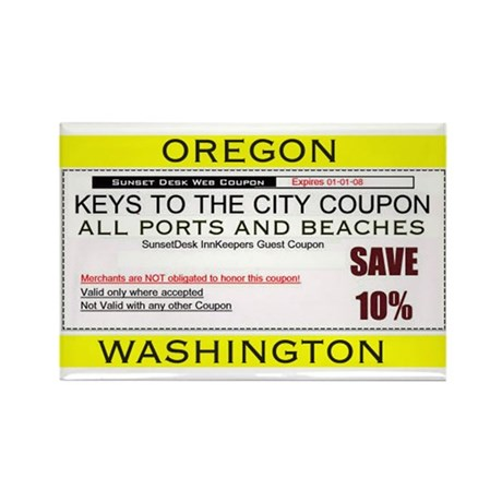 Oregon Washington Coupon Magnet Rectangle