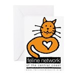 Feline Network Logo - Greeting Cards (Package of
