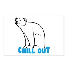 Chill Out Polar Bear Postcards (Package of 8)
