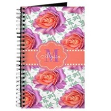 Purple Coral Roses Personalized Journal