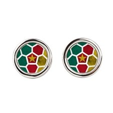 Cameroon World Cup 2014 Round Cufflinks