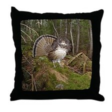 Strutting Grouse Throw Pillow