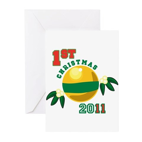 1st Christmas 2011 Greeting Cards