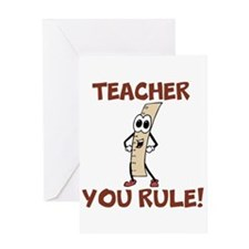 Teacher You Rule! Greeting Cards