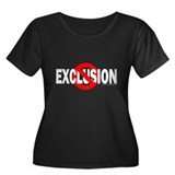 Stop Exclusion Women's Plus Size Scoop Neck Dark T
