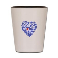 Arizona Heart Shot Glass