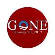 "Obama Gone 2017 3.5"" Button (100 pack)"