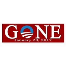 Barack Obama Gone Bumper Bumper Sticker