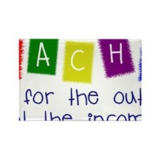 TEACHERS Outcome not In Rectangle Magnet (10 pack)