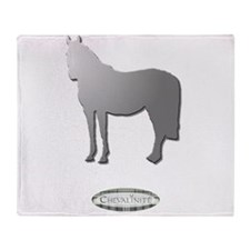 Horse Theme Design by Chevalinite Throw Blanket