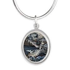 Nigatsu-do Dragon Silver Oval Necklace