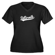 Buttermilk, Retro, Plus Size T-Shirt